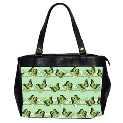 Green Butterflies Office Handbags (2 Sides)  by linceazul