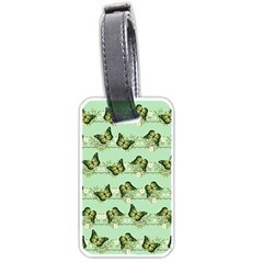 Green Butterflies Luggage Tags (two Sides) by linceazul