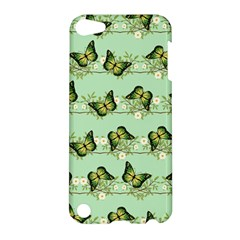 Green Butterflies Apple Ipod Touch 5 Hardshell Case by linceazul