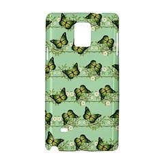 Green Butterflies Samsung Galaxy Note 4 Hardshell Case by linceazul