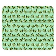 Green Butterflies Double Sided Flano Blanket (small)  by linceazul