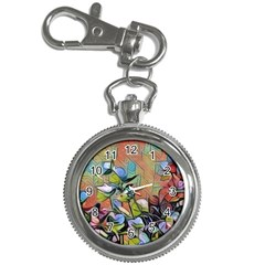 Spring Flowers Magic Cube Key Chain Watches