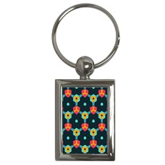 Connected Shapes Pattern          Key Chain (rectangle) by LalyLauraFLM