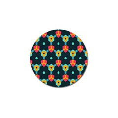 Connected Shapes Pattern          Golf Ball Marker by LalyLauraFLM