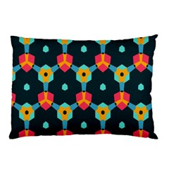 Connected Shapes Pattern          Pillow Case by LalyLauraFLM