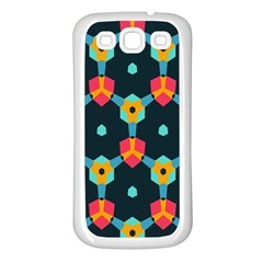 Connected shapes pattern    Samsung Galaxy S7710 Xcover 2 Hardshell Case by LalyLauraFLM