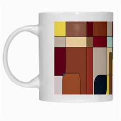 Patchwork White Mugs by theunrulyartist