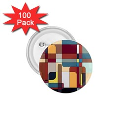 Patchwork 1 75  Buttons (100 Pack)  by theunrulyartist