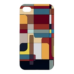 Patchwork Apple Iphone 4/4s Premium Hardshell Case by theunrulyartist
