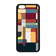 Patchwork Apple Iphone 5c Seamless Case (black) by theunrulyartist