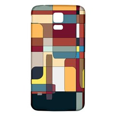 Patchwork Samsung Galaxy S5 Back Case (white) by theunrulyartist