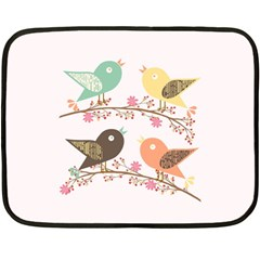 Four Birds Fleece Blanket (mini) by linceazul