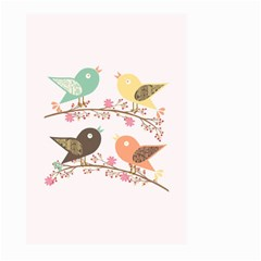 Four Birds Large Garden Flag (two Sides) by linceazul
