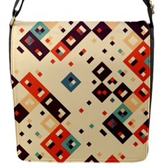 Squares In Retro Colors         Flap Closure Messenger Bag (s) by LalyLauraFLM