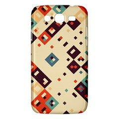 Squares In Retro Colors   Samsung Galaxy Duos I8262 Hardshell Case by LalyLauraFLM