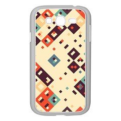 Squares in retro colors   Samsung GALAXY S4 I9500/ I9505 Case (White)