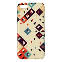 Squares In Retro Colors   Samsung Galaxy Note 3 Leather Folio Case by LalyLauraFLM