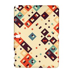 Squares in retro colors   HTC Desire 601 Hardshell Case by LalyLauraFLM