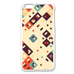 Squares In Retro Colors   Apple Iphone 6/6s Leather Folio Case by LalyLauraFLM