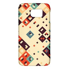 Squares in retro colors   HTC One M9 Hardshell Case by LalyLauraFLM