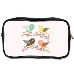 Four Birds Toiletries Bags 2 Side by linceazul