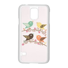 Four Birds Samsung Galaxy S5 Case (white) by linceazul