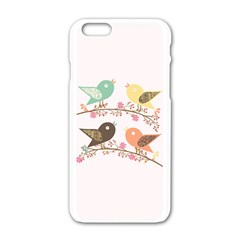 Four Birds Apple Iphone 6/6s White Enamel Case by linceazul