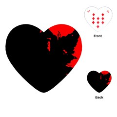 Abstraction Playing Cards (heart)  by Valentinaart