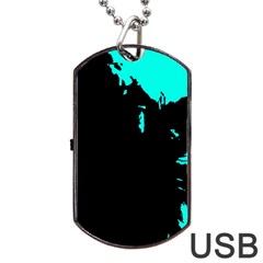 Abstraction Dog Tag Usb Flash (two Sides) by Valentinaart