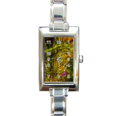 Dragonfly Dragonfly Wing Insect Rectangle Italian Charm Watch