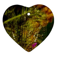 Dragonfly Dragonfly Wing Insect Heart Ornament (two Sides)