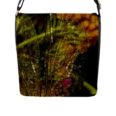 Dragonfly Dragonfly Wing Insect Flap Messenger Bag (l)  by Nexatart