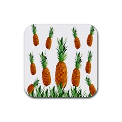 Pineapple Print Polygonal Pattern Rubber Square Coaster (4 Pack)  by Nexatart