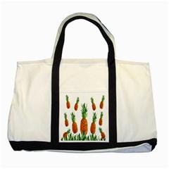 Pineapple Print Polygonal Pattern Two Tone Tote Bag by Nexatart