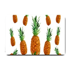 Pineapple Print Polygonal Pattern Small Doormat