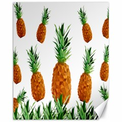 Pineapple Print Polygonal Pattern Canvas 11  X 14