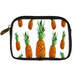 Pineapple Print Polygonal Pattern Digital Camera Cases by Nexatart