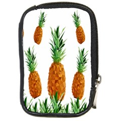 Pineapple Print Polygonal Pattern Compact Camera Cases by Nexatart