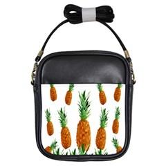 Pineapple Print Polygonal Pattern Girls Sling Bags by Nexatart