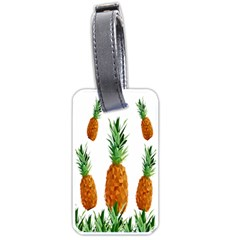 Pineapple Print Polygonal Pattern Luggage Tags (one Side)