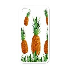 Pineapple Print Polygonal Pattern Apple Iphone 4 Case (white) by Nexatart