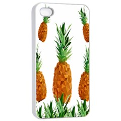 Pineapple Print Polygonal Pattern Apple Iphone 4/4s Seamless Case (white)