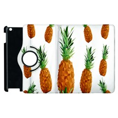 Pineapple Print Polygonal Pattern Apple Ipad 2 Flip 360 Case by Nexatart