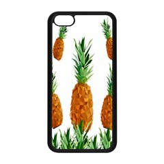 Pineapple Print Polygonal Pattern Apple Iphone 5c Seamless Case (black) by Nexatart