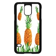 Pineapple Print Polygonal Pattern Samsung Galaxy S5 Case (black)