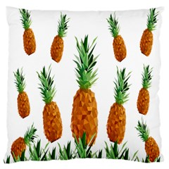 Pineapple Print Polygonal Pattern Large Flano Cushion Case (one Side)