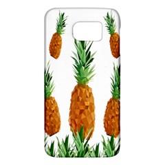 Pineapple Print Polygonal Pattern Galaxy S6 by Nexatart