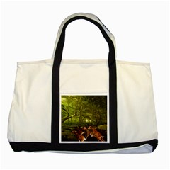 Red Deer Deer Roe Deer Antler Two Tone Tote Bag