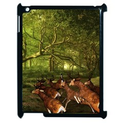 Red Deer Deer Roe Deer Antler Apple Ipad 2 Case (black)