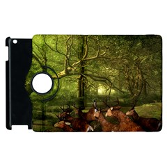 Red Deer Deer Roe Deer Antler Apple Ipad 3/4 Flip 360 Case by Nexatart